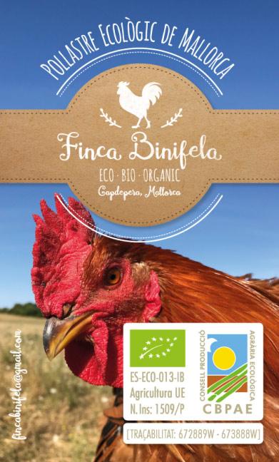 Organic chicken from Mallorca